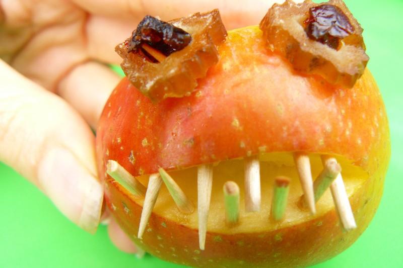 Ogen maken voor appelgriezel