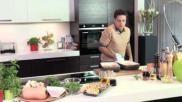Pompoen polenta met bospaddestoelen en groentesaus Een heerlijk recept