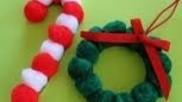 Hoe kun je met pompoenen pompoms kerstkransen maken