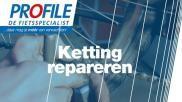 Ketting fiets repareren kapotte kettingschakel vervangen
