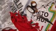 DIY een hippe tank top maken van je oversized T shirt