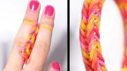 Loomen Rainbow loom armband maken op je vingers