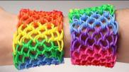 Dragon scale Rainbow Loom armband loomen