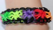 Rainbow loom Starburst armband loomen