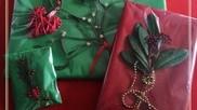 Kerstidee een feestelijke cadeau verpakking voor je kerstcadeau