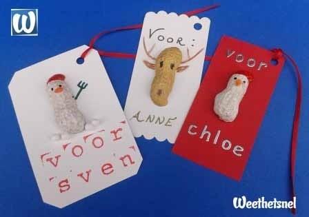 Knutselen voor Kerst: feestelijke cadeaulabels maken #DIY