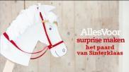 Sinterklaas surprise maken het paard van Sinterklaas