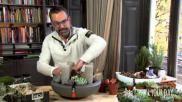 Verrassend en modern advent kerststukje maken met vetplanten en kerstgroen