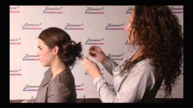 Hoe kun je met laagjes in het haar een leuke knot maken?