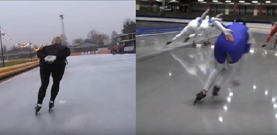 De houding van schaats en been