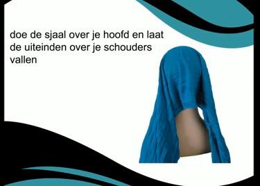 De sjaal over je hoofd doen