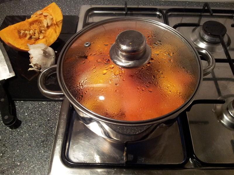 Koken van de pompoen