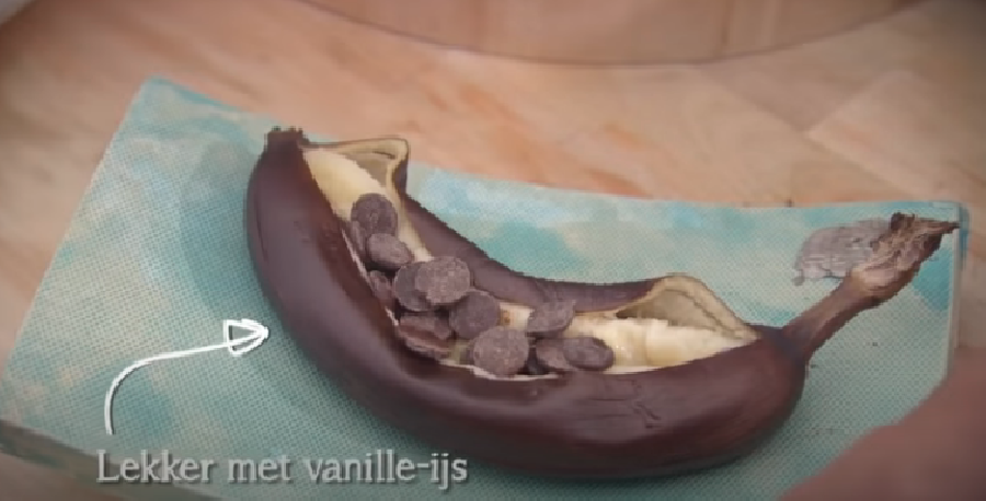 De chocolade toevoegen