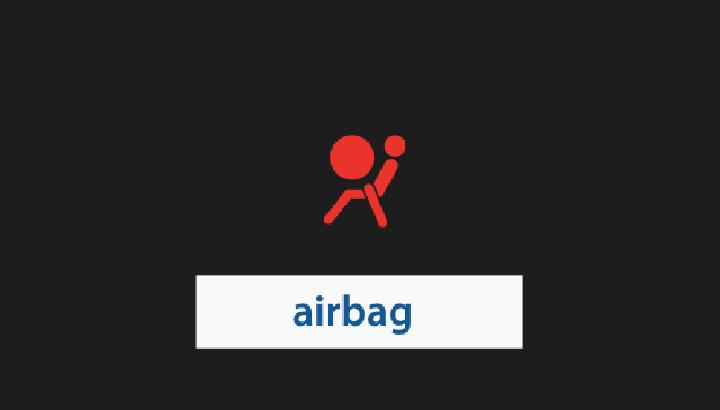 Symbool: autostoel met passagier en airbag (video 2.06)