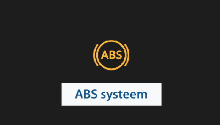 Symbool: letters ABS in cirkel