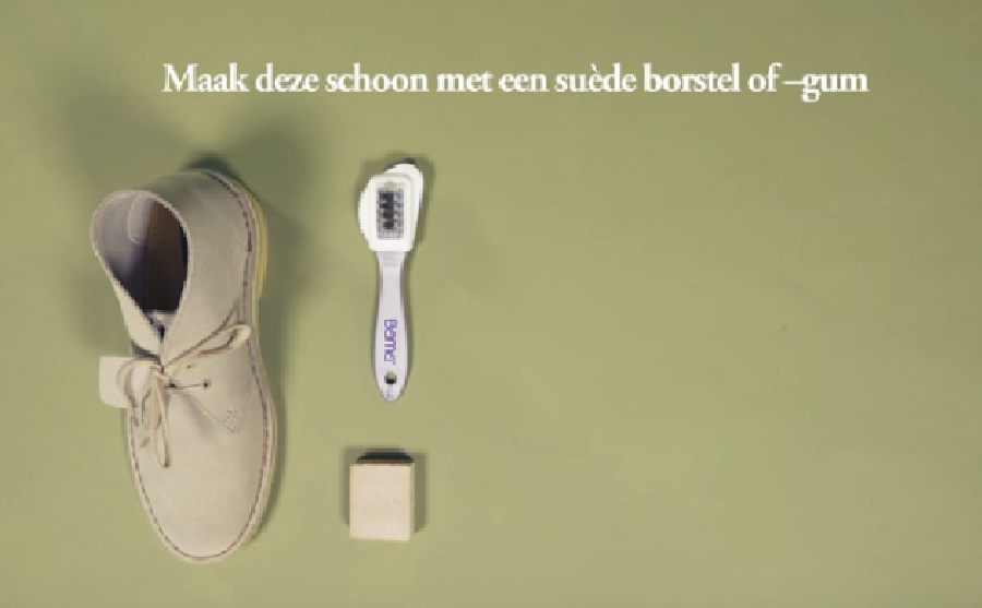 Suède schoenen onderhouden