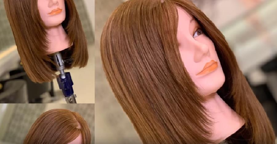 Schuine lagen in het haar snijden