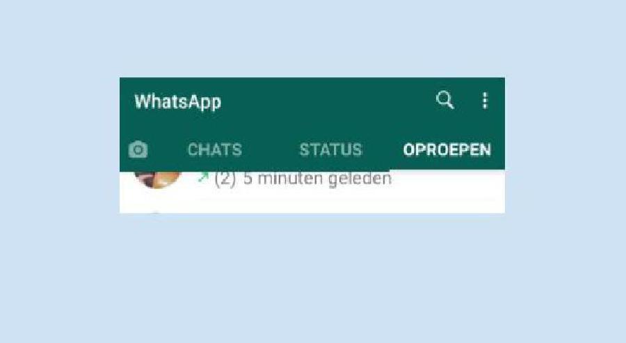 Groeps videobellen met Whatsapp opstarten