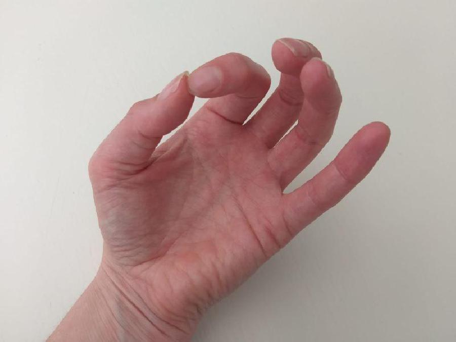 Gaarheid vlees testen met je handpalm