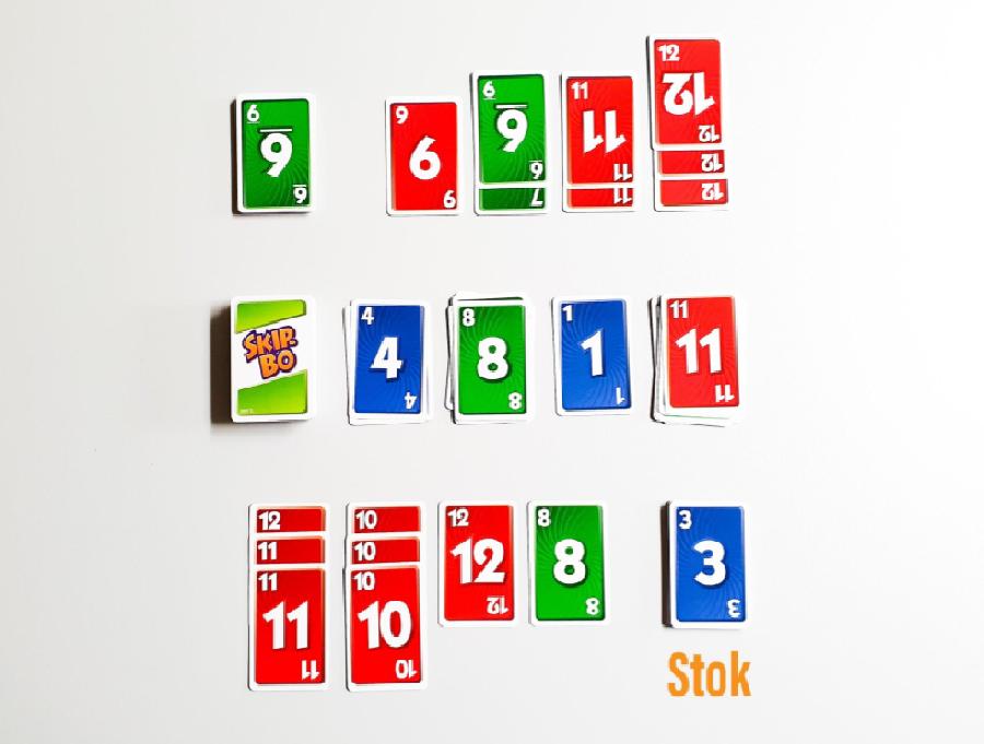 Uit hoeveel kaarten bestaat je stok?