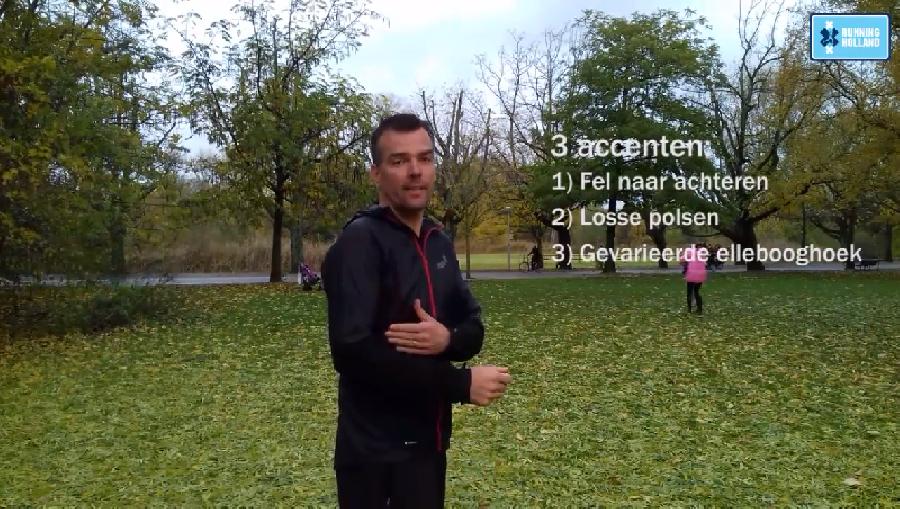 Hoe moet je je armen bewegen bij het hardlopen?