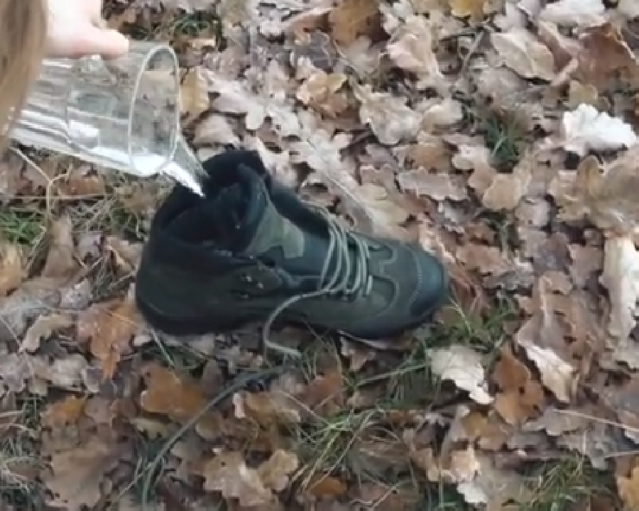 Binnenkant Gore-Tex wandelschoenen schoonmaken