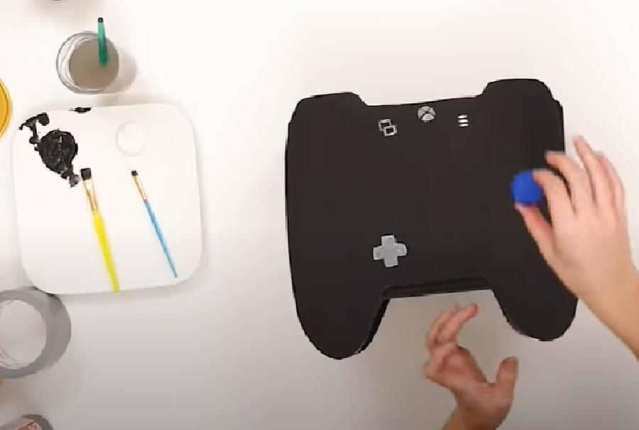 Symbolen op de game controller verven