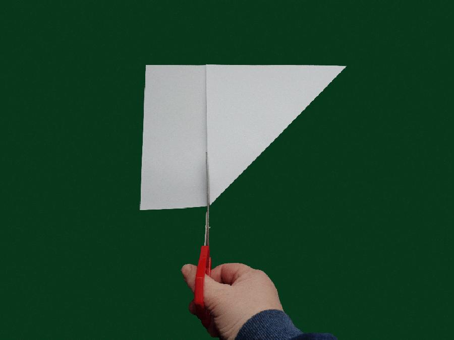 Een trechter maken van A4 papier