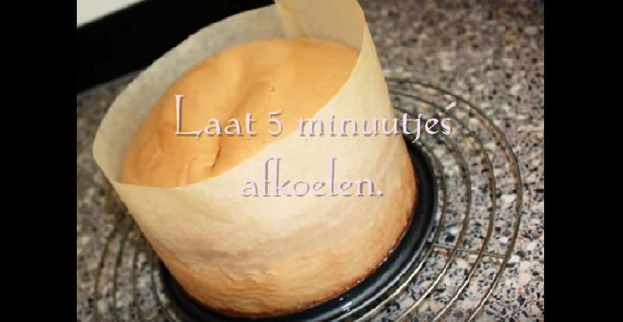 Het afkoelen van de taart
