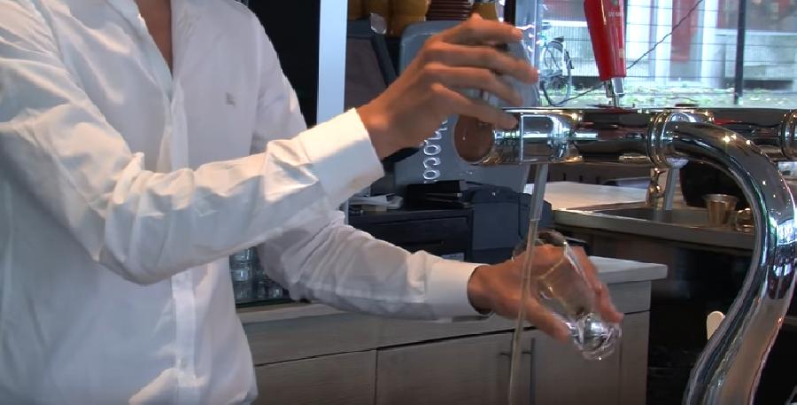 Positie van het glas