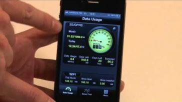 Hoe houd je je dataverbruik op de iPhone in de gaten met de downloadmonitor