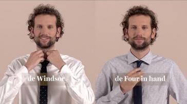Hoe kun je een smalle trendy stropdas knopen Drie voorbeelden