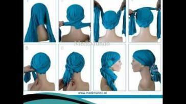 Hoe kun je een sjaal wikkelen en knopen als hoofdbedekking