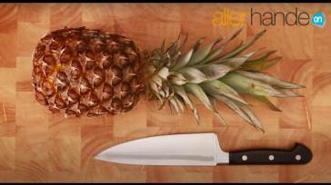Hoe kun je snel en makkelijk een ananas schillen en snijden