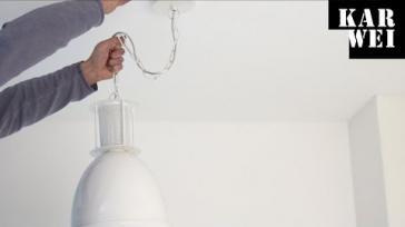 Hoe kan ik een hanglamp ophangen Met of zonder dimmer