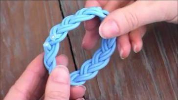 Sieraden maken armband knopen met Turkse knoop