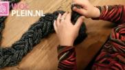 DIY een sjaal vlechten van wol Leuk snel