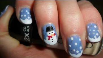 Hoe kun je leuke kerstnagels maken met een sneeuwpop