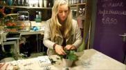 Zelf kerststukje maken een bloempotje pimpen tot kerststukje