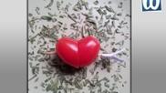 Hartje van tomaat voor Valentijn of Moederdag
