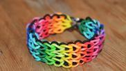 Loomen Triple single Rainbow Loom armband maken op twee looms