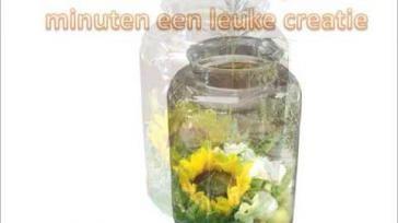 Hoe maak ik een bloementuin in een vaas