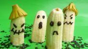 Halloween hapje of kindertraktatie halloween spoken van banaan