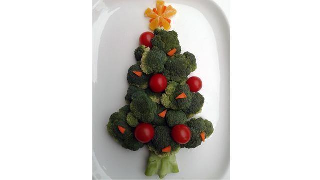Bijgerechten voor kerst: een feestelijke broccoli kerstboom.