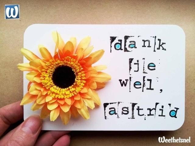 Favoriete Kaarten maken: zelf een vrolijke bedankkaart maken. - Instructies  TR52
