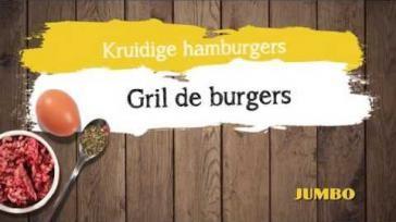 Recept zelfgemaakte hamburgers lekker pittig gekruid