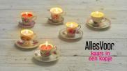 DIY zelf kaarsen maken in een nostalgisch kopje als cadeau of woondecoratie
