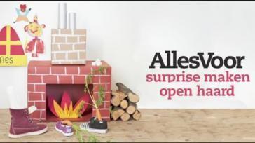 Knutselen voor Sinterklaas een kartonnen schoorsteen als surprise