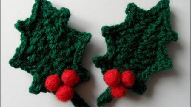 Kerstversiering Haken Decoratieve Hulstblaadjes Voor In De