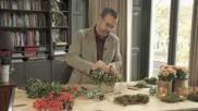 Eenvoudig zelf een origineel kerststukje maken met een natuurlijke uitstraling